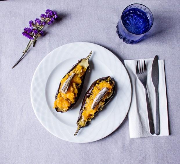 img_6958 Aubergine with pumpkin and smoked anchovies @eatyourselfgreek