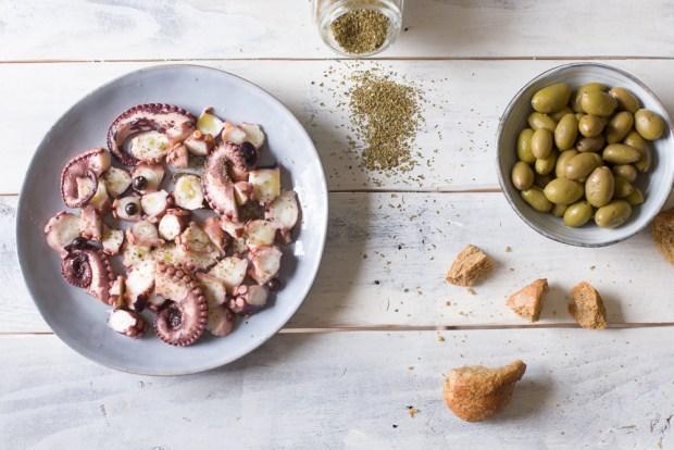 Greek octopus in vinegar @eatyourselfgreek