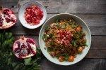 kisir bulgur wheat salad with pomegranate molasses