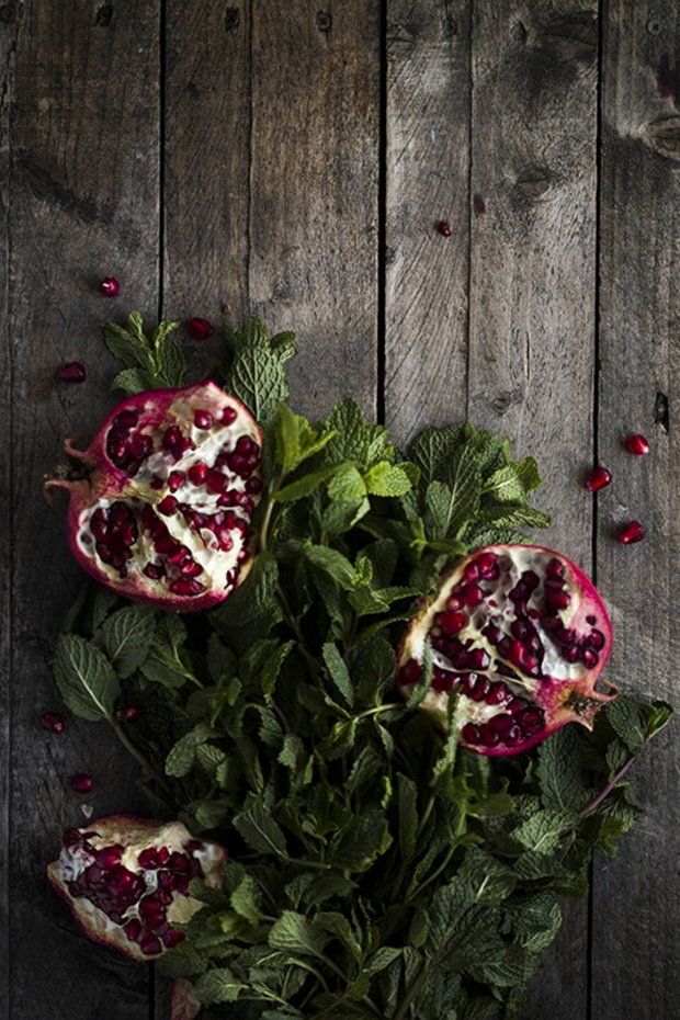mint and pomegranate