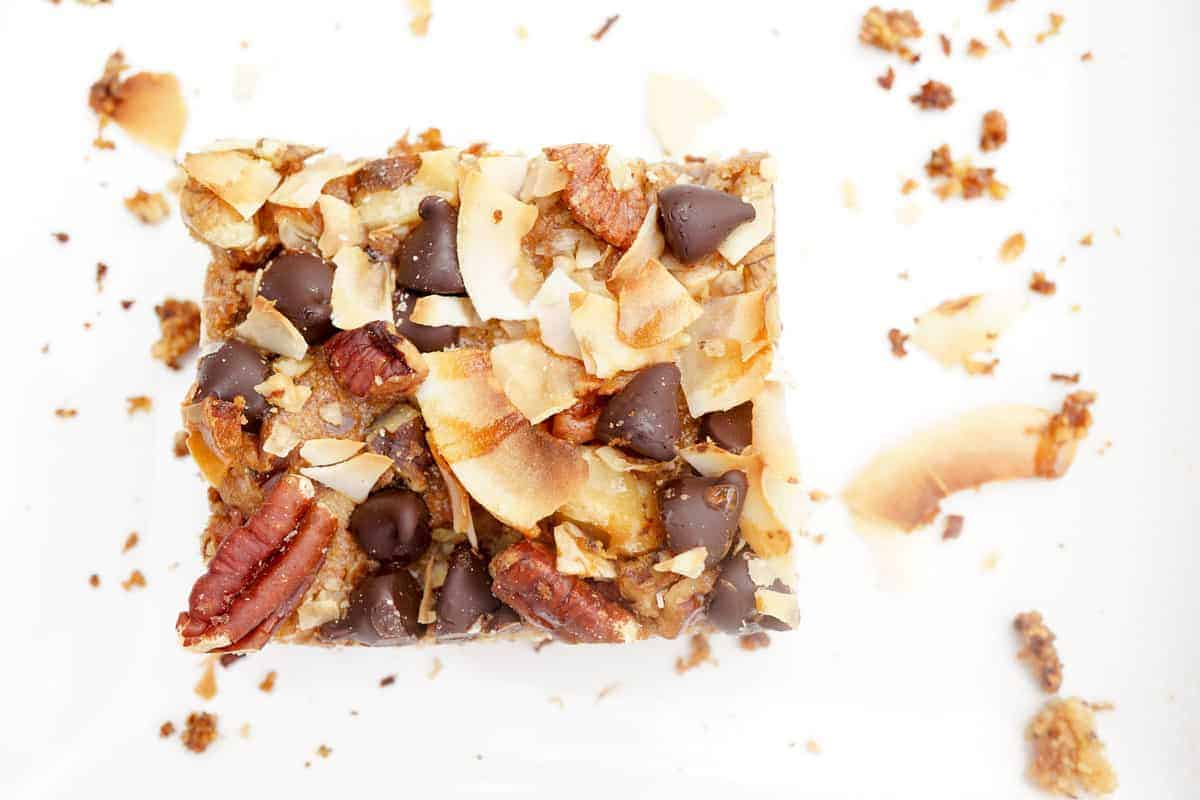 Chocolatey Coconuty Magic Bars