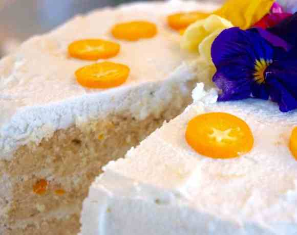 Orange Scone Cake with Lemon Coconut Glaze – sugar, dairy, grain and soy free