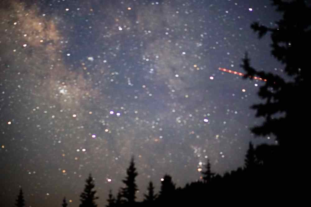 Beautiful stars and shooting stars too at Francie's Cabin!