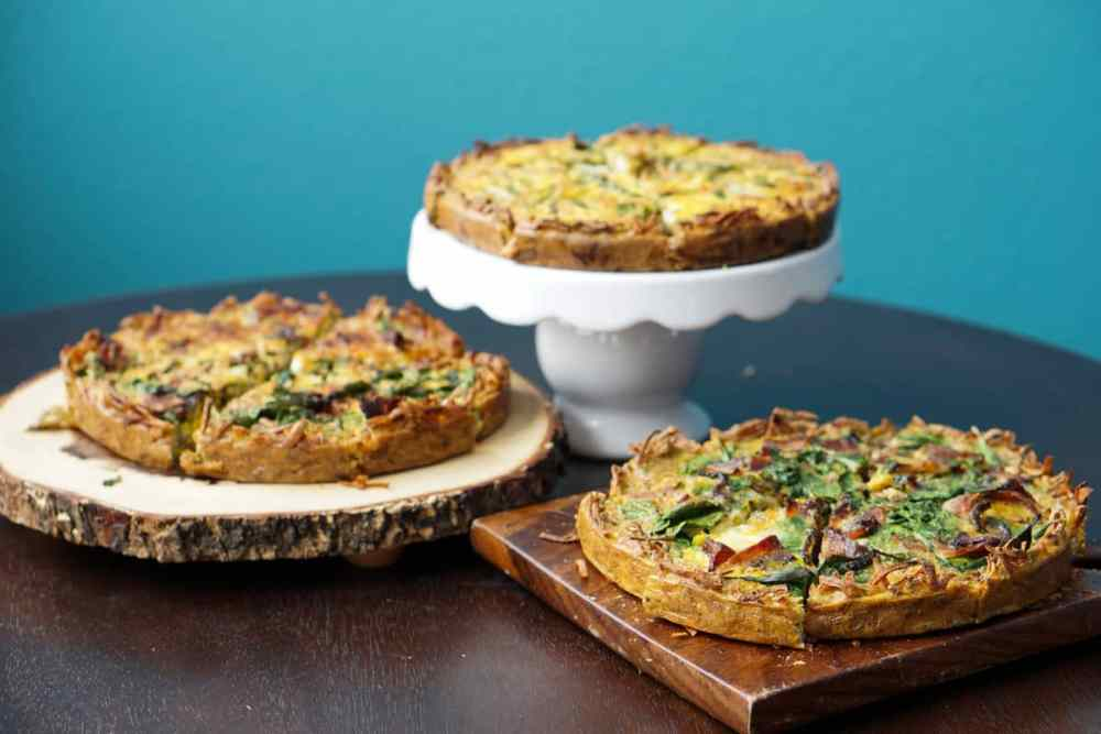 A perfect make ahead dish for any event: gluten free, dairy free, paleo, grain free bacon spinach quiche recipe is the answer to a healthy and easy brunch