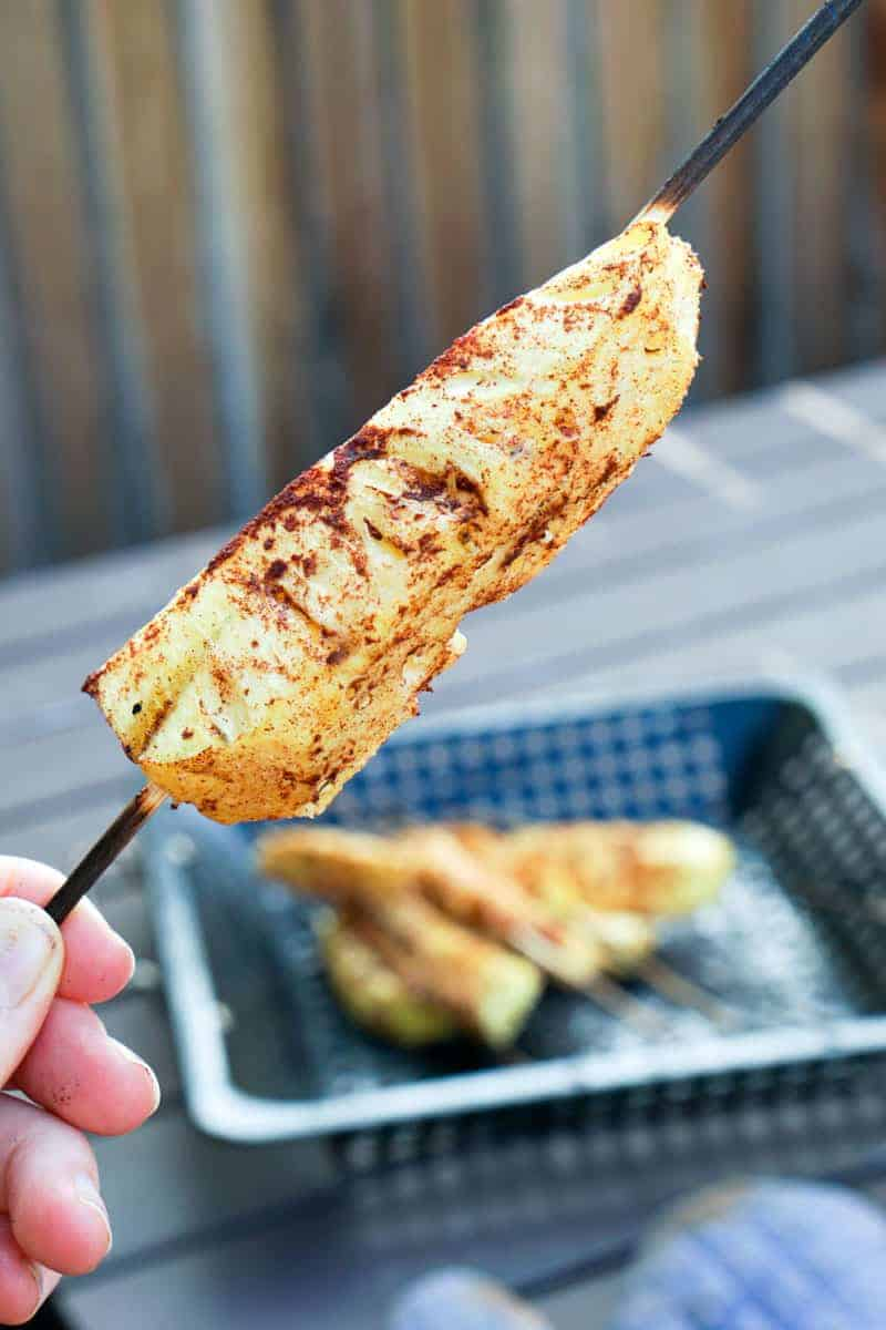 Grilled Pineapple Skewers with Cinnamon