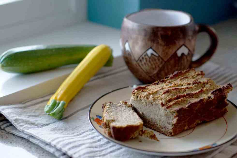 Fluffy, naturally sweetened, and healthy, this healthy lemon zucchini bread is the perfect snack or breakfast for 1. Enjoy it guilt free, since hte recipe is free of gluten, dairy, grains and sugar.