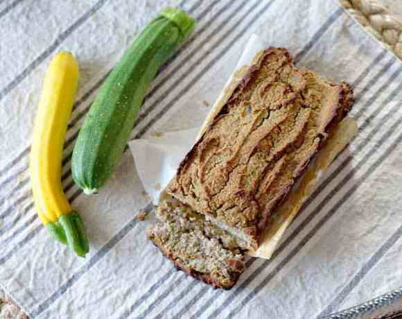 Mini Refined Sugar Free Zucchini Bread with Lemon (gluten free, paleo)