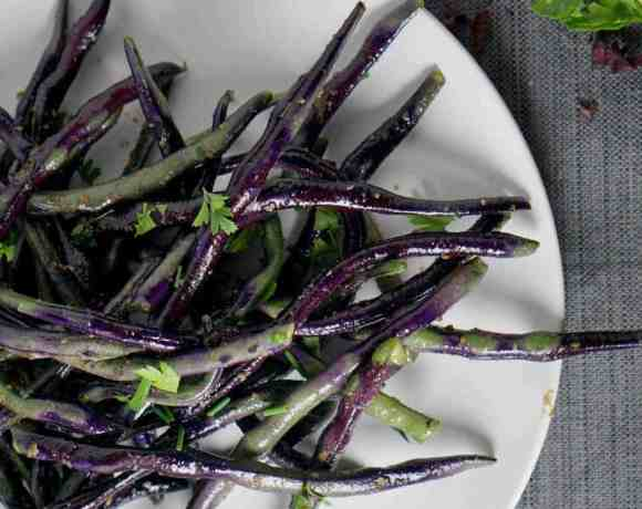 Truffled Purple Green Beans