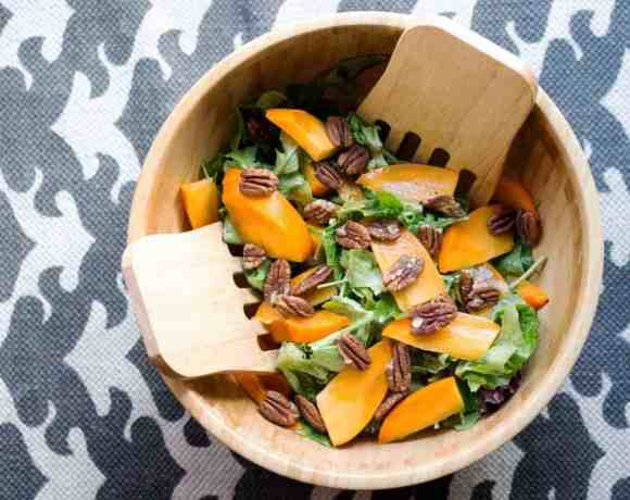 Persimmon Arugula Salad