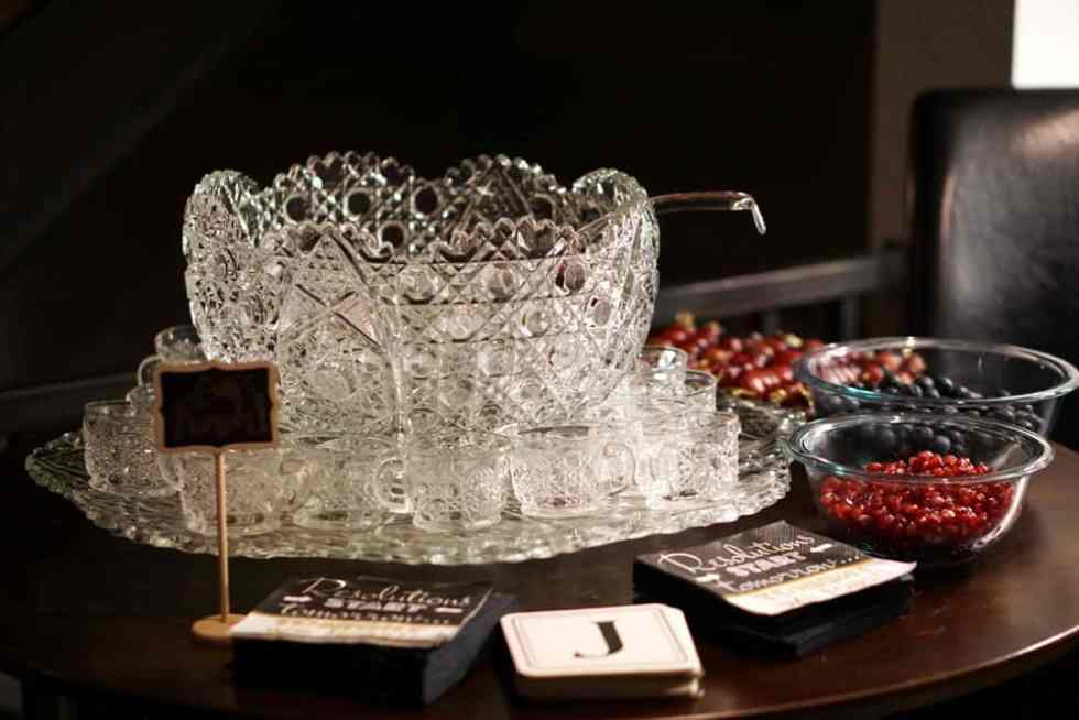 at a little elegance to your party with a punch bowl