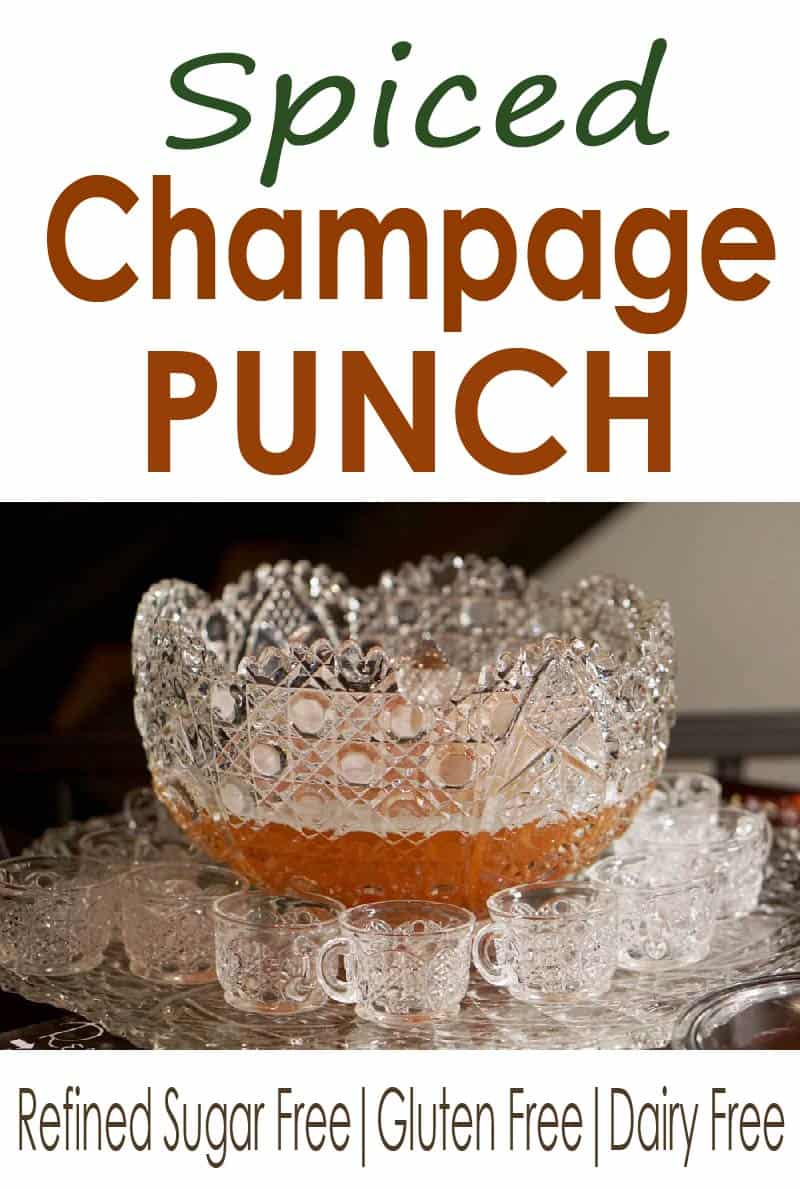 Steeped with cinnamon and clove, this spiced champagne punch mixes natural fruit flavors and bubbles for a delicious and less sugary punch with reduced potential for hangovers!