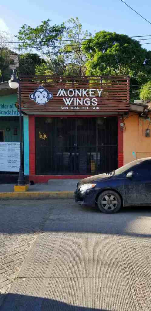 San Juan del Sur restaurant monkey wings