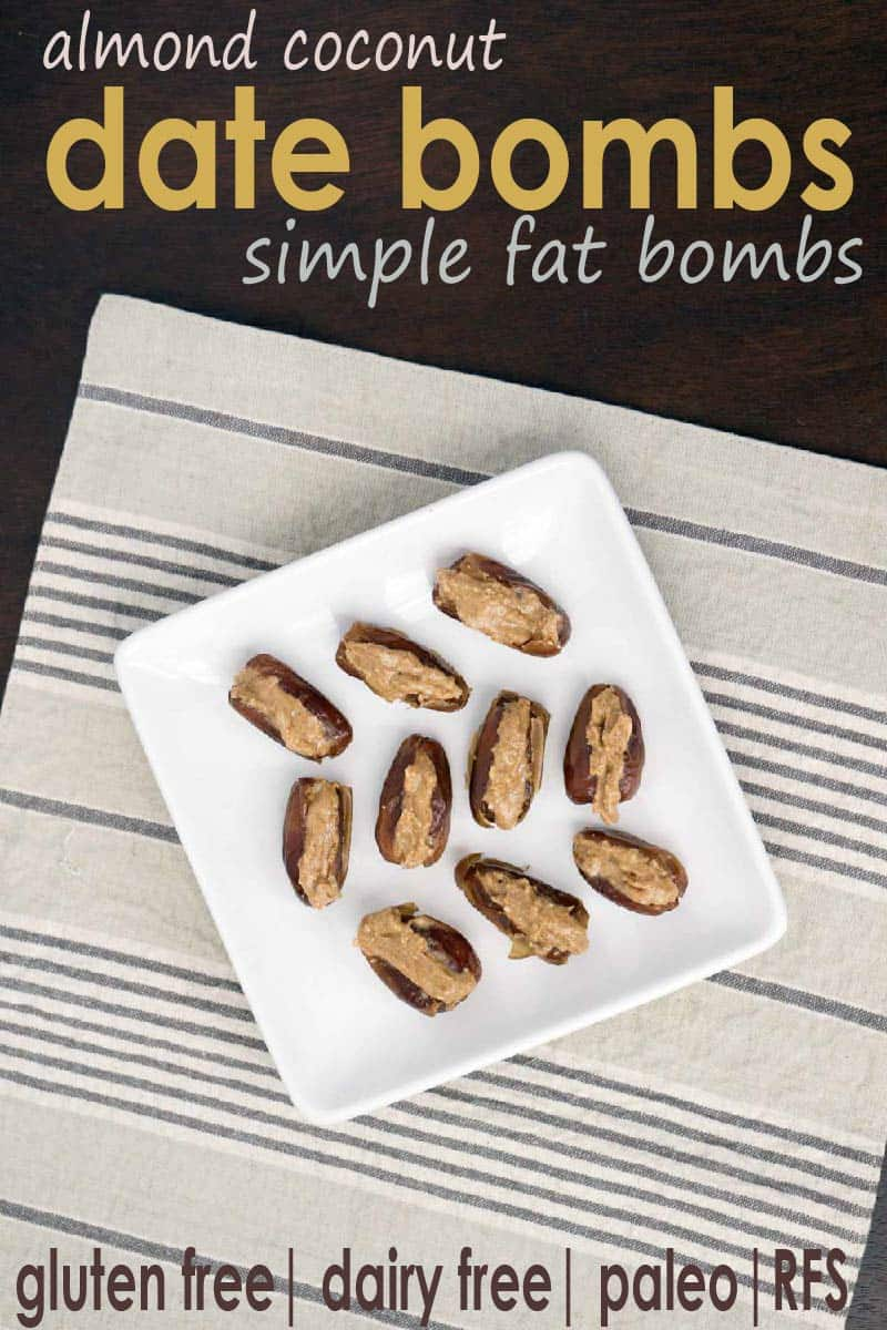 Almond coconut date bombs are a simple fat bomb that's high protein, high fat, and low carb. Great for the 3 pm slump to keep you nourished, balance blood sugars and regulate your hunger signals.