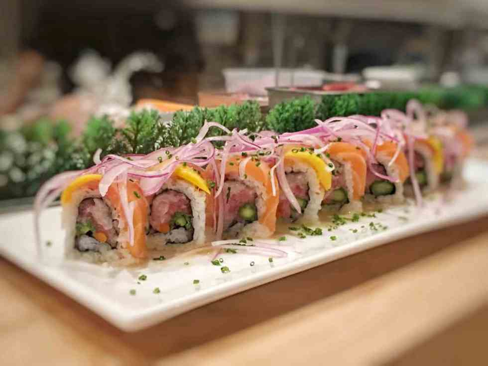 The mango tango roll at Boto sushi, one of san diego's best restaurants in north county