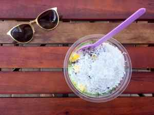 an acai bowl at sambazon - featured in this guide to the best restaurants in north county san diego