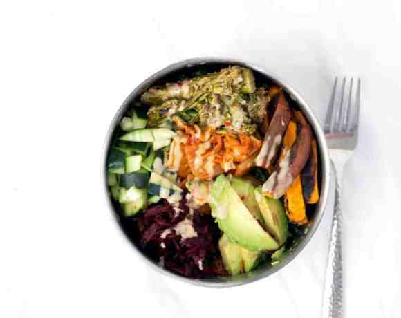 Loaded Kale Salad Bowl – aka The Best Work Day Lunch