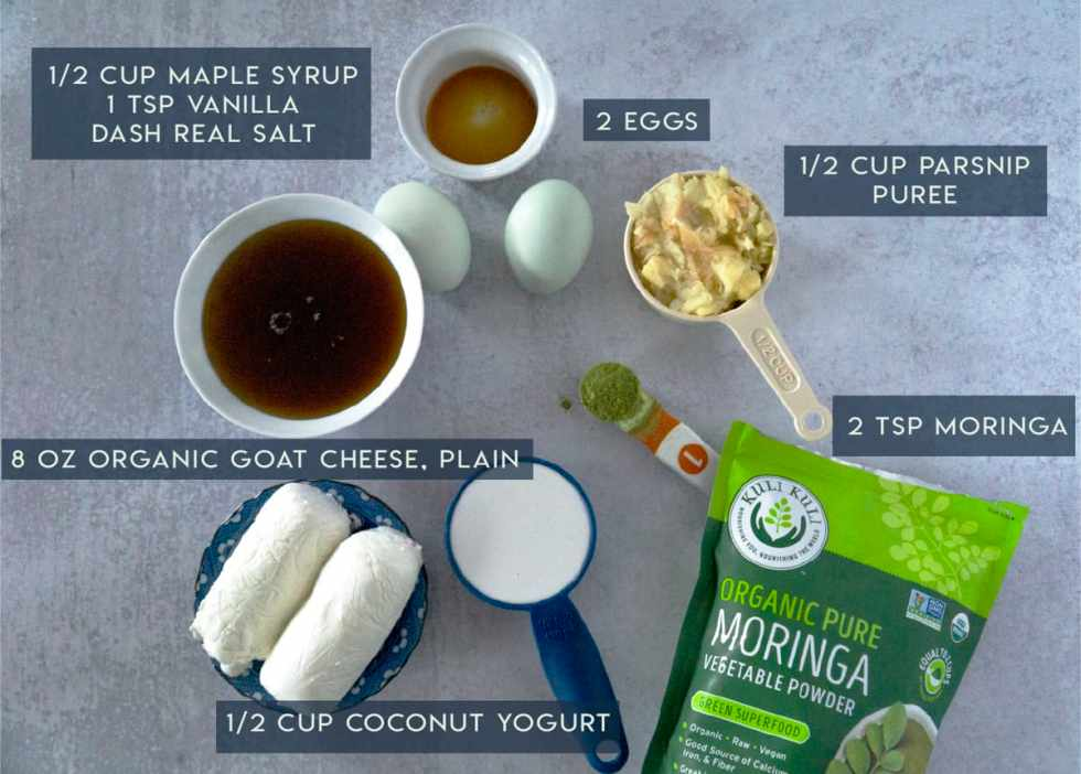 Moringa Cheesecake Filling Ingredients