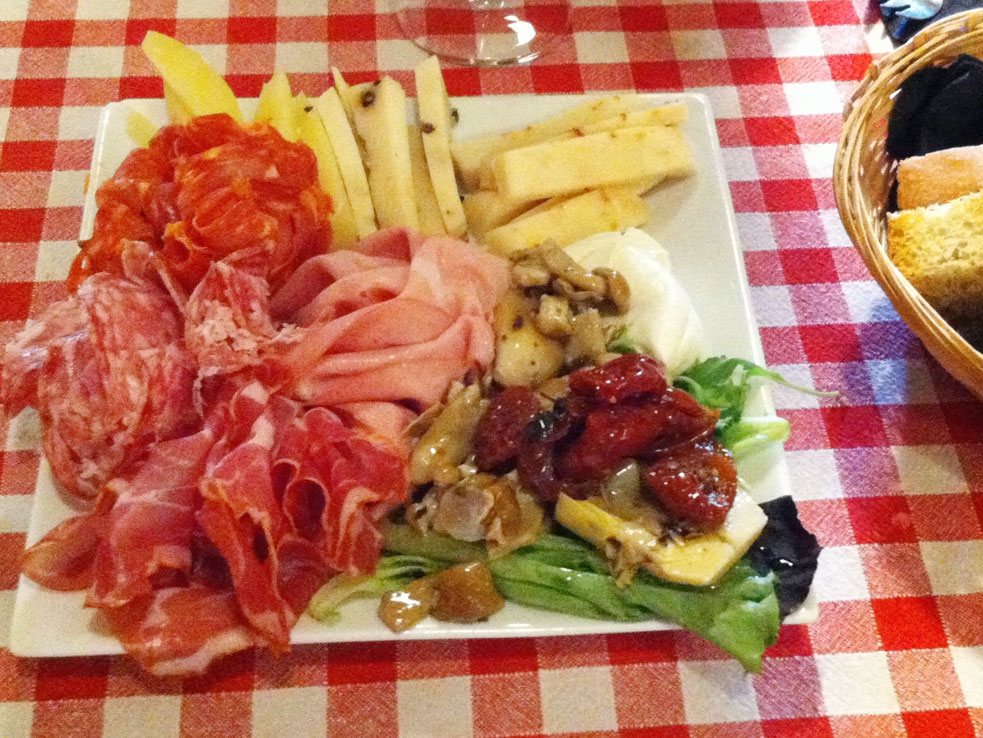 An aperitif charcuterie spread in Paris