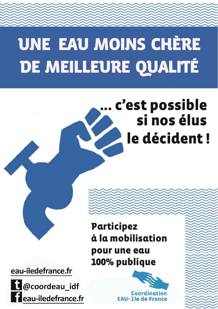 L'EAU PUBLIQUE, C'EST MAINTENANT! Retrouvez tous les articles consacrés à l'action pour l'eau publique en Île-de-France.