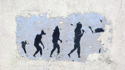 evolution sur un mur à Paris