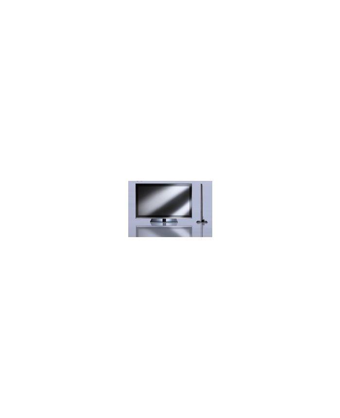 ecran led 55 pouces slim tv pro hantarex cadre noir crystal noir