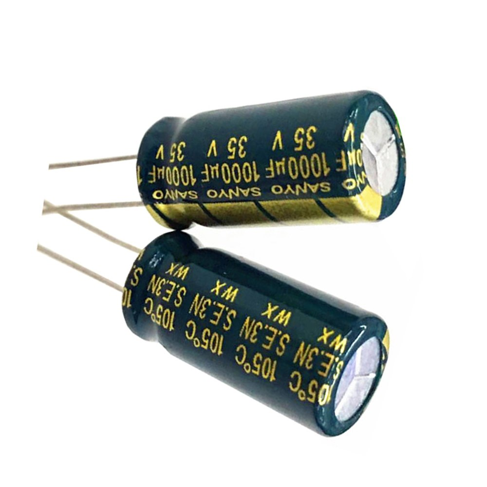 35V 1000uF High Frequency LOW ESR Radial Electrolytic Capacitors 105°C 10x20mm