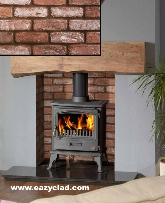 Pictures of Stone and brick slip cladding fireplaces  Eazyclad Stone Cladding