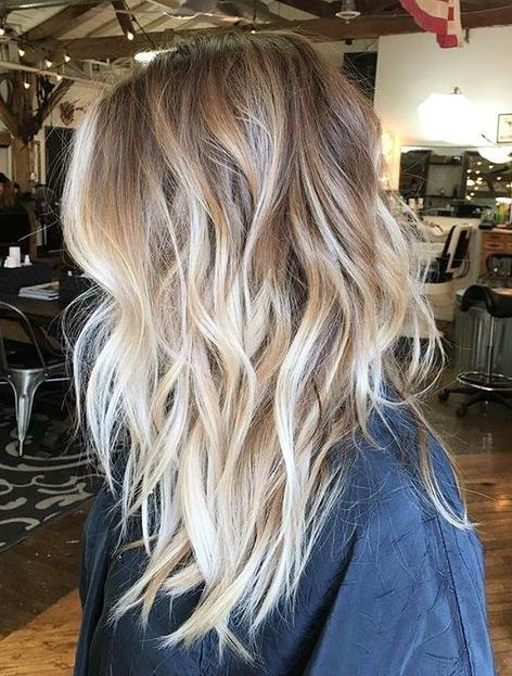 Medium Length Ombre Hair Brown To Blonde