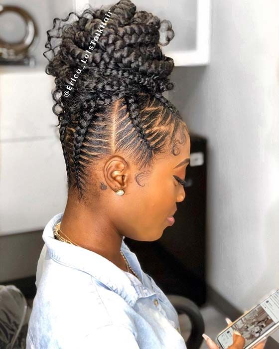 41 Best Black Braided Hairstyles To Stand Out Eazy Glam