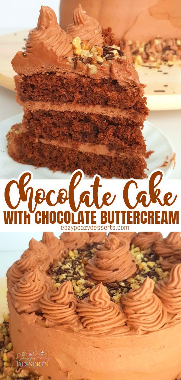 All chocolate lovers agree that the best dessert is a chocolate cake loaded with chocolate frosting. Here is a delicious recipe for a great double chocolate cake, very easy to make and a guaranteed hit! via @eazypeazydesserts