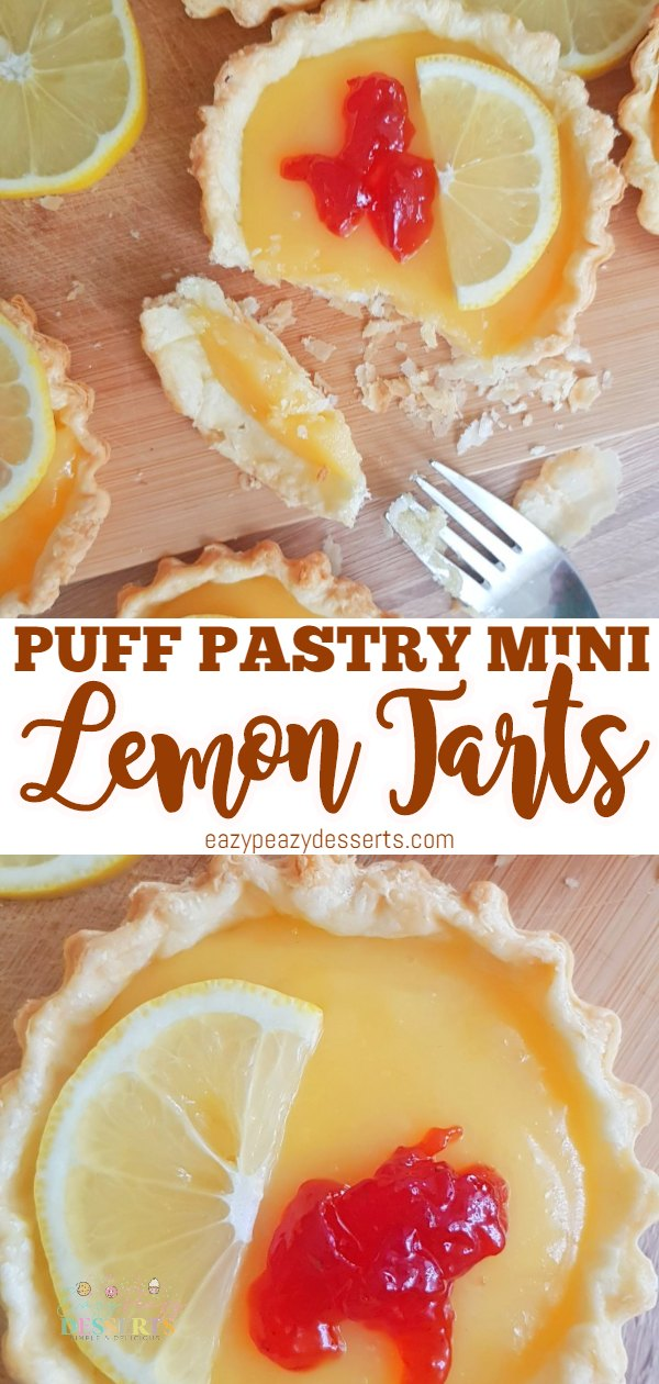 These mini lemon tarts are a delicious dessert with a sour touch, perfect for the tart food lovers. They are so easy to make, everyone can whip them up. Switch the lemon curd with your favorite curd and enjoy them even more! via @eazypeazydesserts
