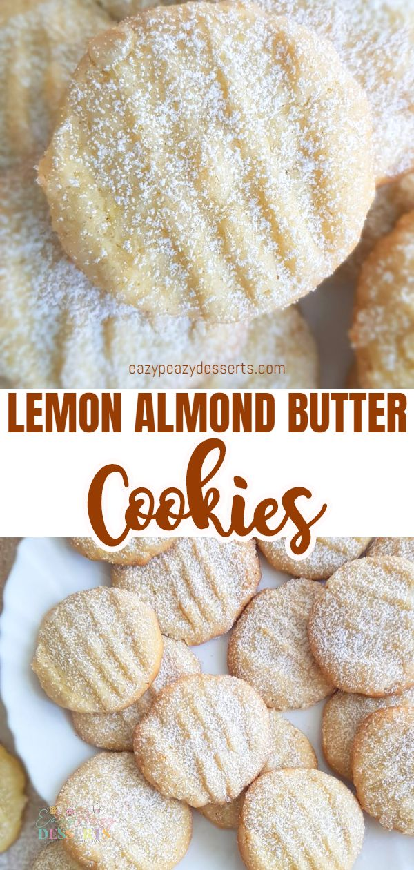Lemon lovers will be in love with this super-simple lemon almond cookies recipe with a bold flavor! These soft lemon cookies are chewy as well as crinkly. No wonder some call them Lemon Crinkle Cookies! via @eazypeazydesserts