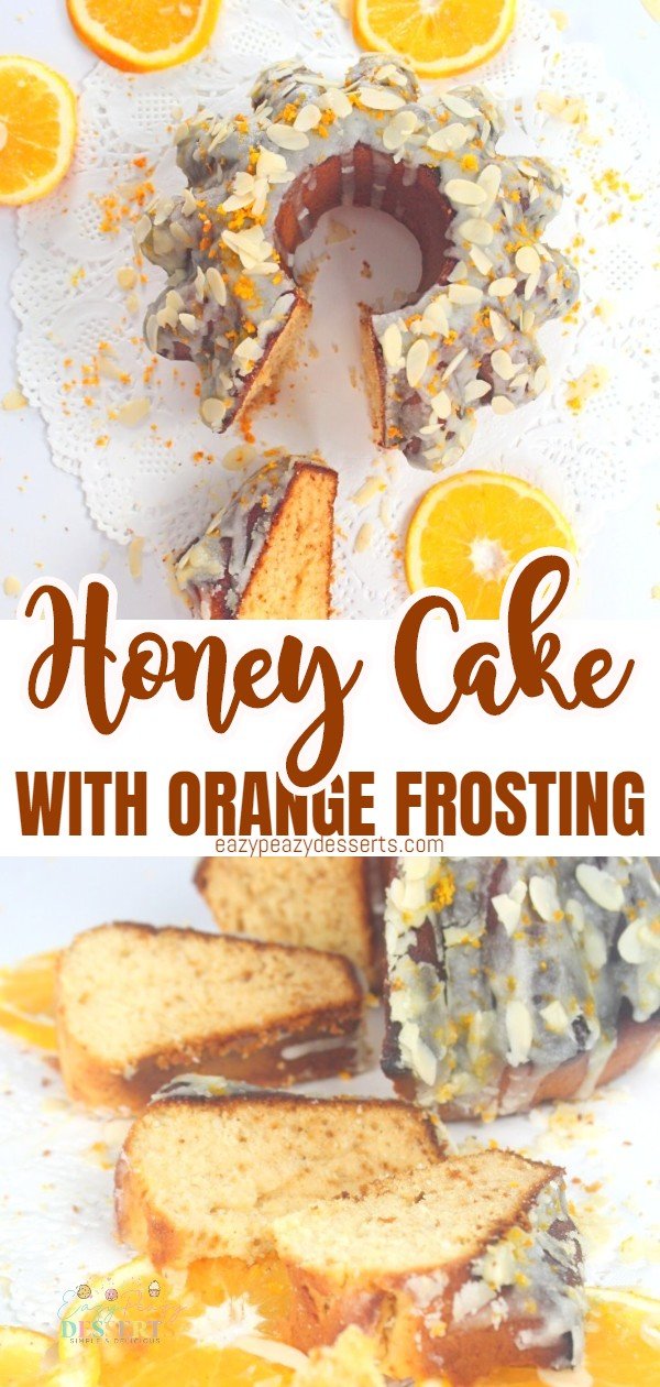 Looking for a delicious cake to serve with afternoon tea, at a party or simply as a sweet treat for breakfast? Here is a great honey cake recipe made in a popular Bundt cake, and frosted with a yummy orange coating. via @eazypeazydesserts
