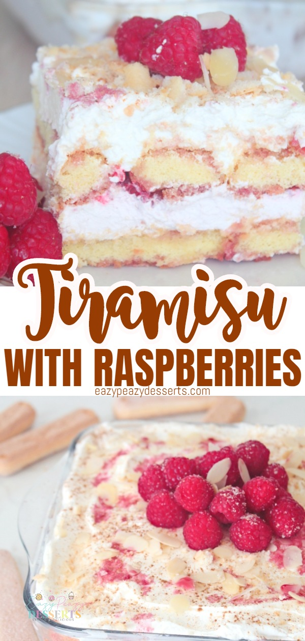 Tiramisu is a delicious desert that is pretty quick and easy to make, and very elegant! The raspberry tiramisu is a great way to add diversity and enjoy a delicious, fruity desert! via @eazypeazydesserts