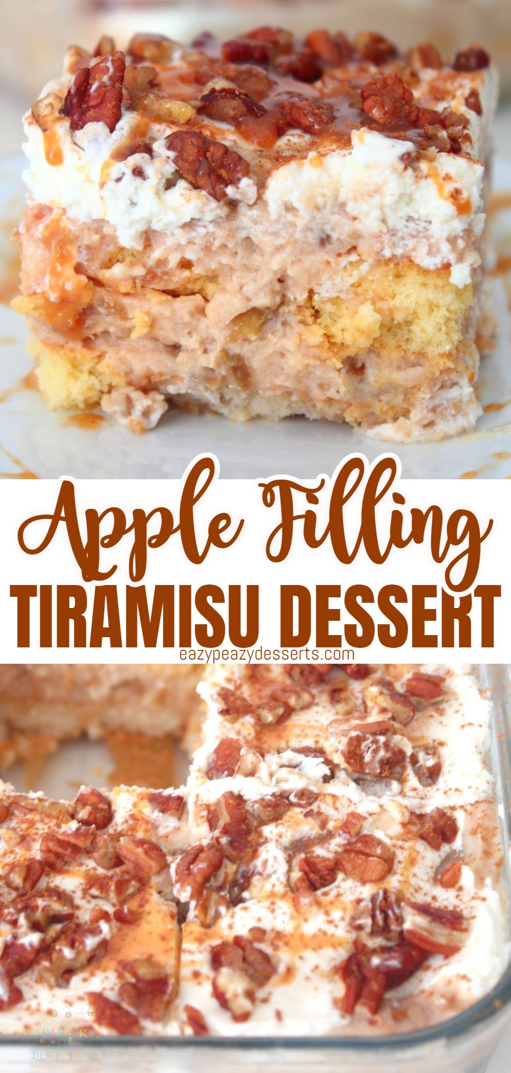 Tiramisu is just such an amazing desert! The classic version is delicious, but many varieties are developing and they are just so good! Today I'm going to show you how to make a super-tasty apple tiramisu the easy way! via @eazypeazydesserts