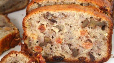Easy banana walnut bread