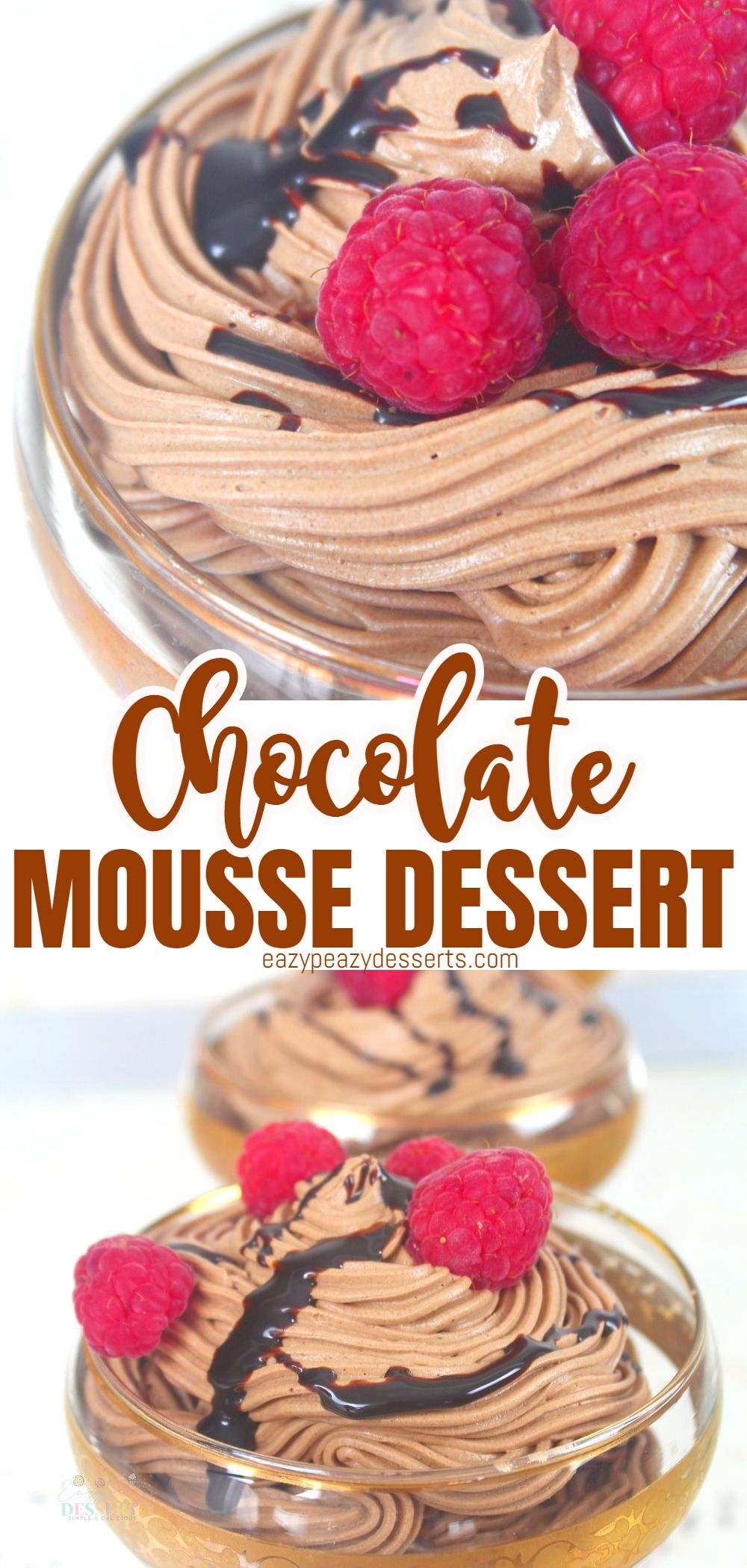 This chocolate mousse is a light, airy dessert that looks very sophisticated, but is really pretty quick and easy to make. Here I'll show you how to make this super-duper-easy chocolate mousse recipe in no-time, really! via @eazypeazydesserts