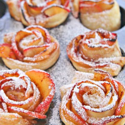 These delightful apple roses are so easy to make and incredibly tasty