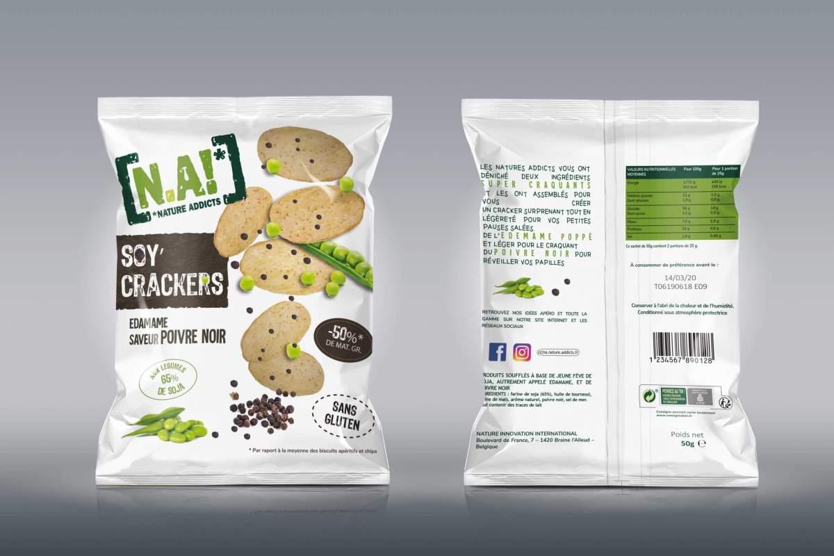 Projet fictif - Packaging crackers N.A!
