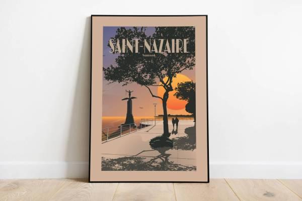 Affiche illustration Saint-Nazaire Sunset