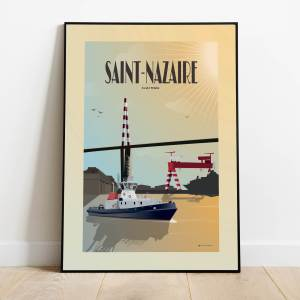 Affiche Saint-Nazaire Red& White