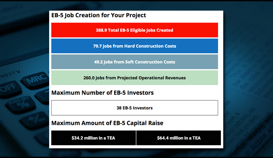 Free EB-5 Job Creation Calculator from EB-5 Affiliate Network.