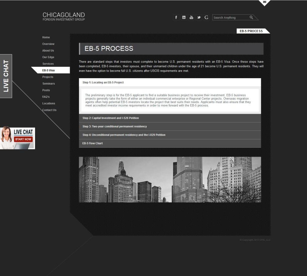 medium resolution of  chicagoland foreign investment group cfig regional center screenshot