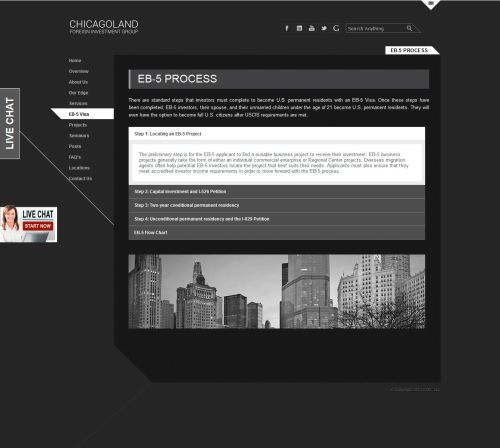 small resolution of  chicagoland foreign investment group cfig regional center screenshot