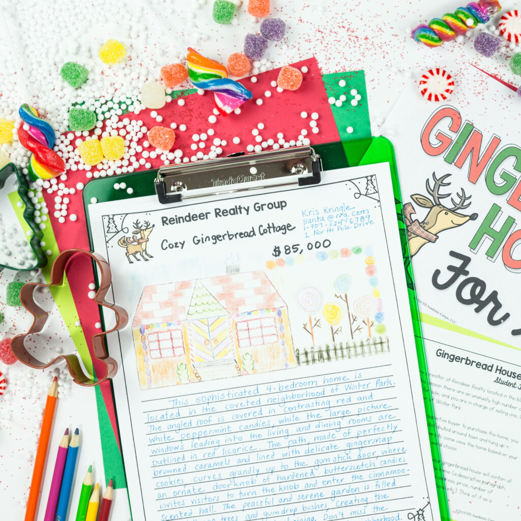 Gingerbread House Holiday Writing Activity For Middle