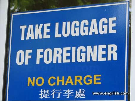 take luggage