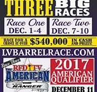 All In Barrel Race #2 Dec 7-10, 2016 Results