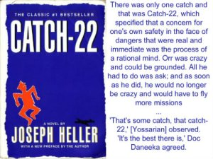 My 22 favorite quotes from Catch22 and then some