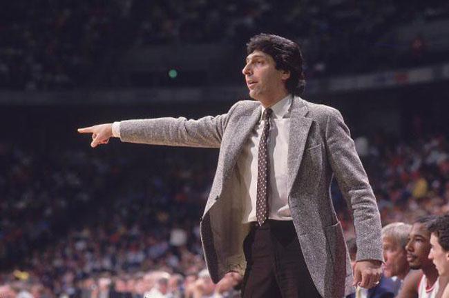 North Carolina State Coach Jim Valvano, 1986 NCAA Midwest Regional Playoffs