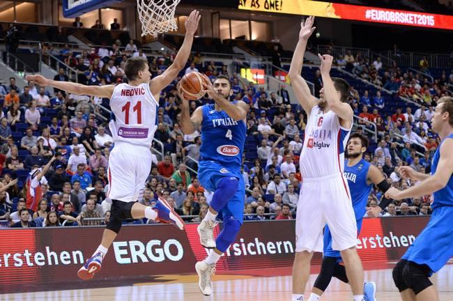 Aradori-Nedovic-Kuzmic-Italia-Serbia-Eurobasket-Group B